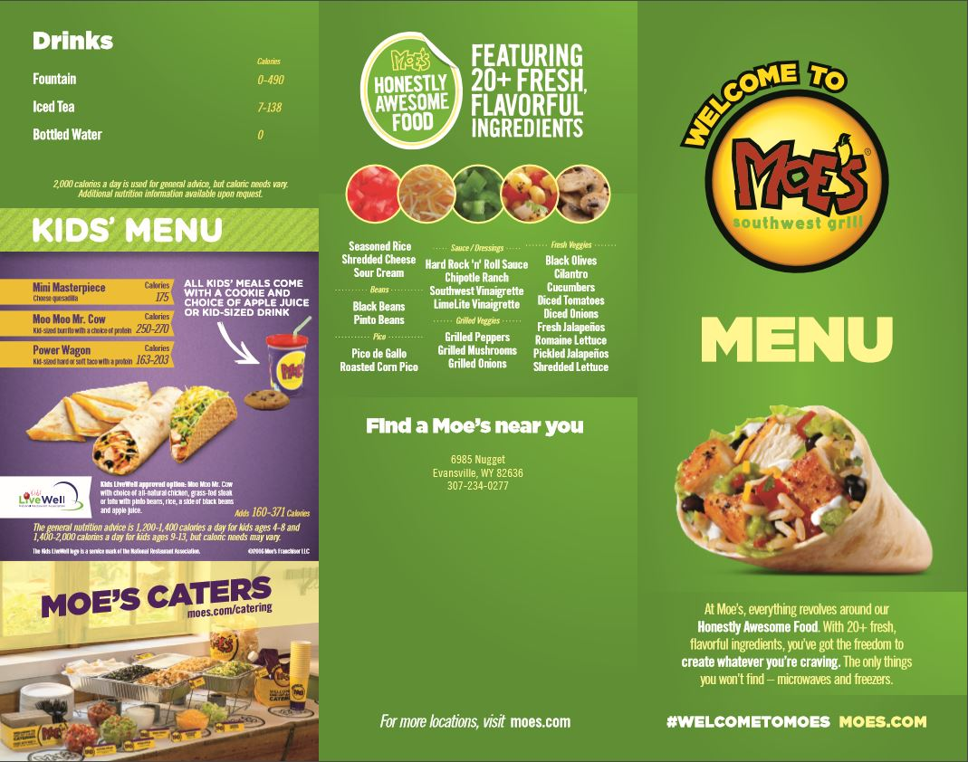 Moe s menu hat six travel plaza - Moe southwest grill menu prices ...